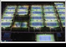 LED Tennis Lighting at Broadstone Racquet Club Metal Halide Before