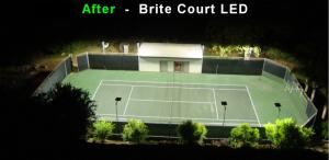 after 434 watt LED Tennis Lights