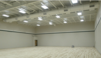 LED lighting fornew construction basketball courts also great for replacing metal halides on indoor basketball courts