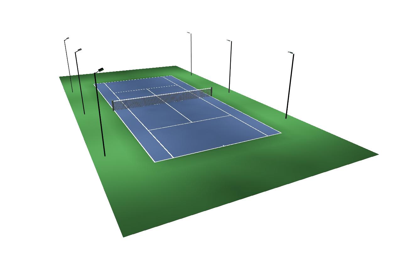 Brite Court Tennis Lighting Outdoor LED Tennis Lighting Brite Court Tennis