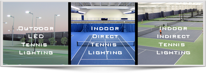 Brite Court offers LED tennis Lighting for both indoor and out door tennis and Pickleball courts