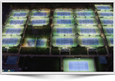 LED Tennis Lighting at Broadstone Racquet Club Metal Halide Before