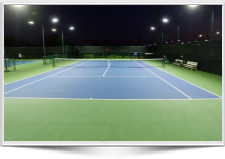 LED Tennis Lighting at Broadstone Racquet Club before and After