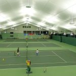 CVA Club New Tennis lighting Brite Court LED HEX indirect fixtures