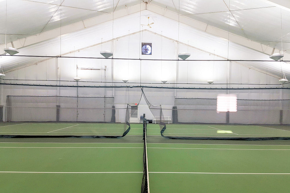 Genas Tennis new LED lighting Brite Court HEX Indirect