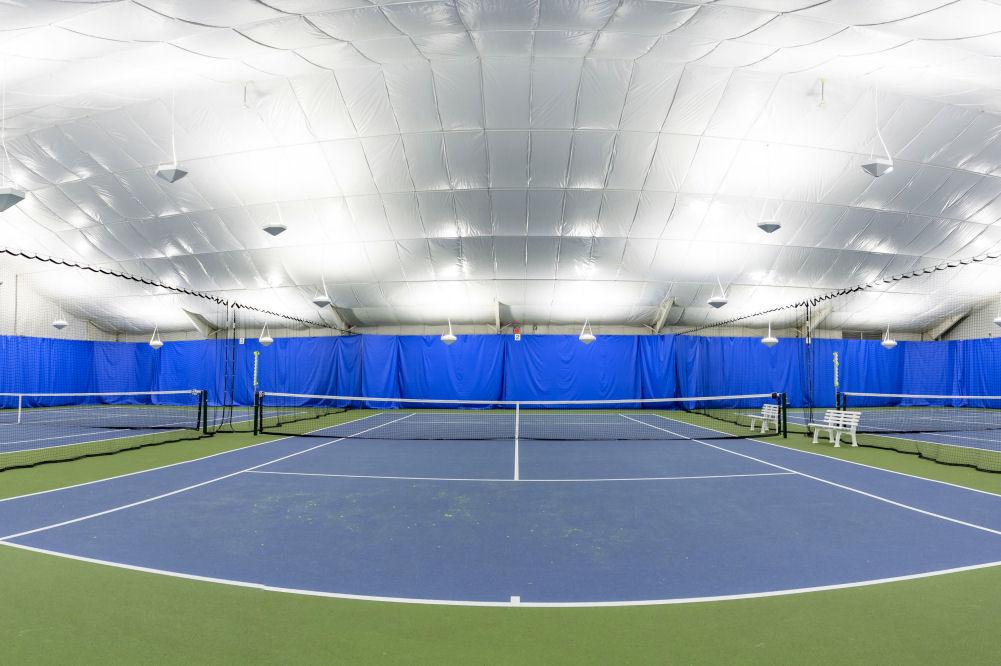 LED indirect tennis lighting Premier Athletic Club NY