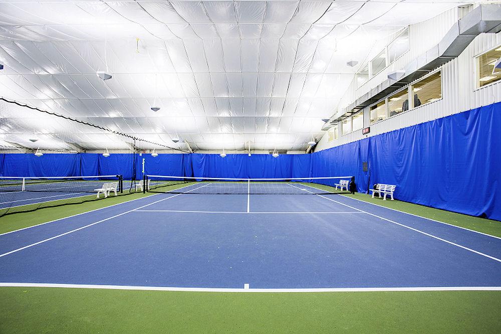 Premier Athletic Club New LED Indirect tennis lighting