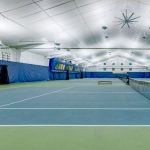 LED lights indirect on indoor tennis courts