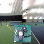 LED Tennis lighting Light levels Whitworth University Spokane WA