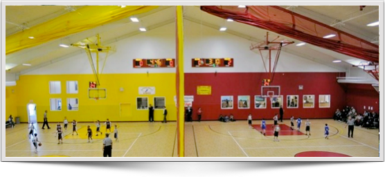 LED highbay, gym lighting, T5 ho fluorescent basketball lighting systems and lighting design