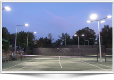 New LED lighting for Outdoor tennis Court Washington Golf and Country Club