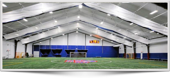 LEDand T5 fluorescsnt indoor soccer lighting systems, energy efficient and low maintenance