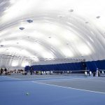 Brite Court LED Indirect fixture in Tennis Clubs of Canada Farley tennis Bubble